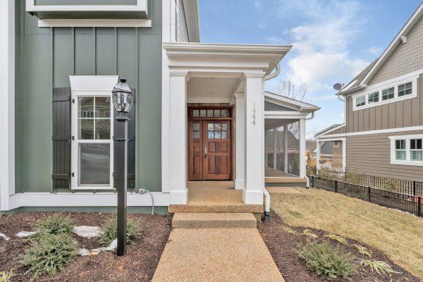 Front door of Craig Builders home in Belvedere.