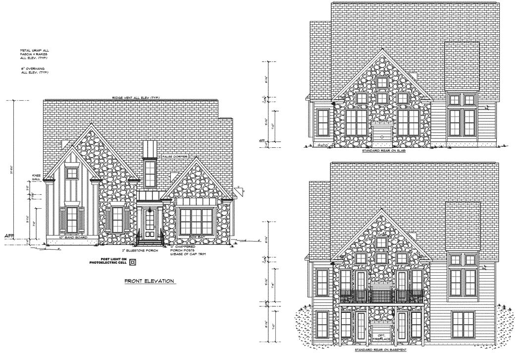 Standard elevation for the Craig Builders Centennial home plan