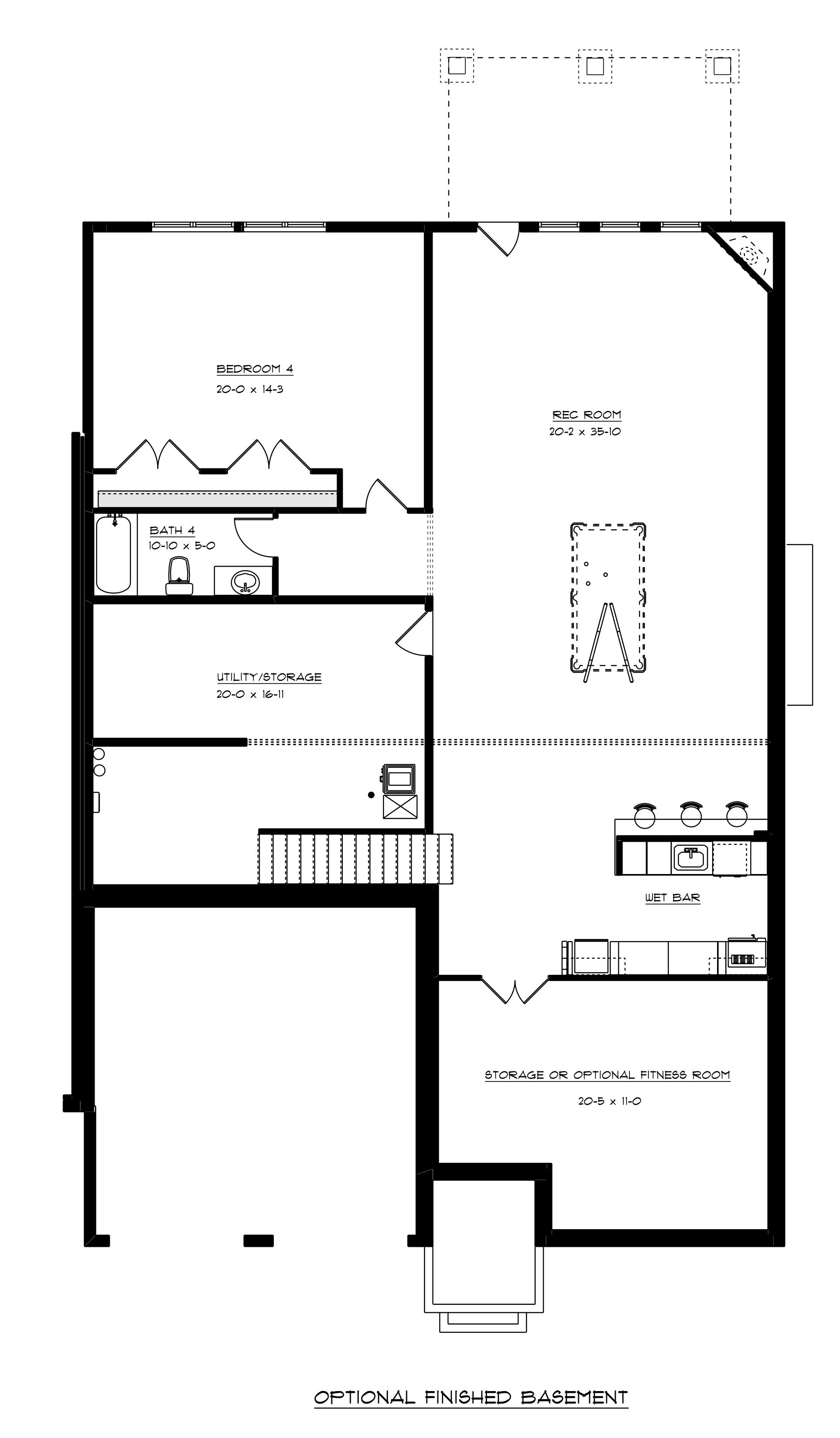 Greenside finished basement plan