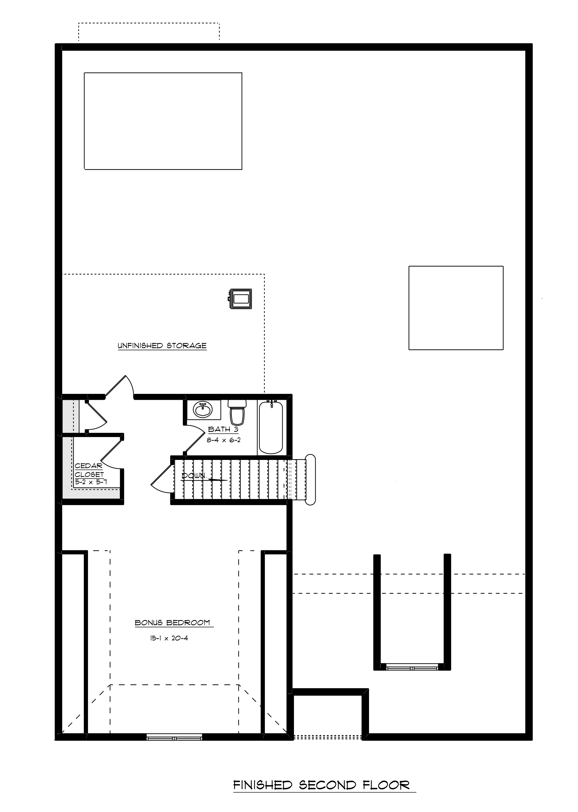 Greenside Floor plan finished bonus room