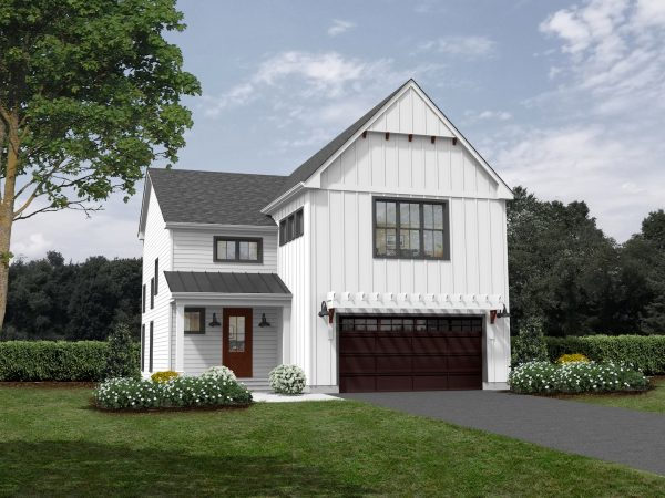 An exterior rendering of The Miller built by Craig Builders