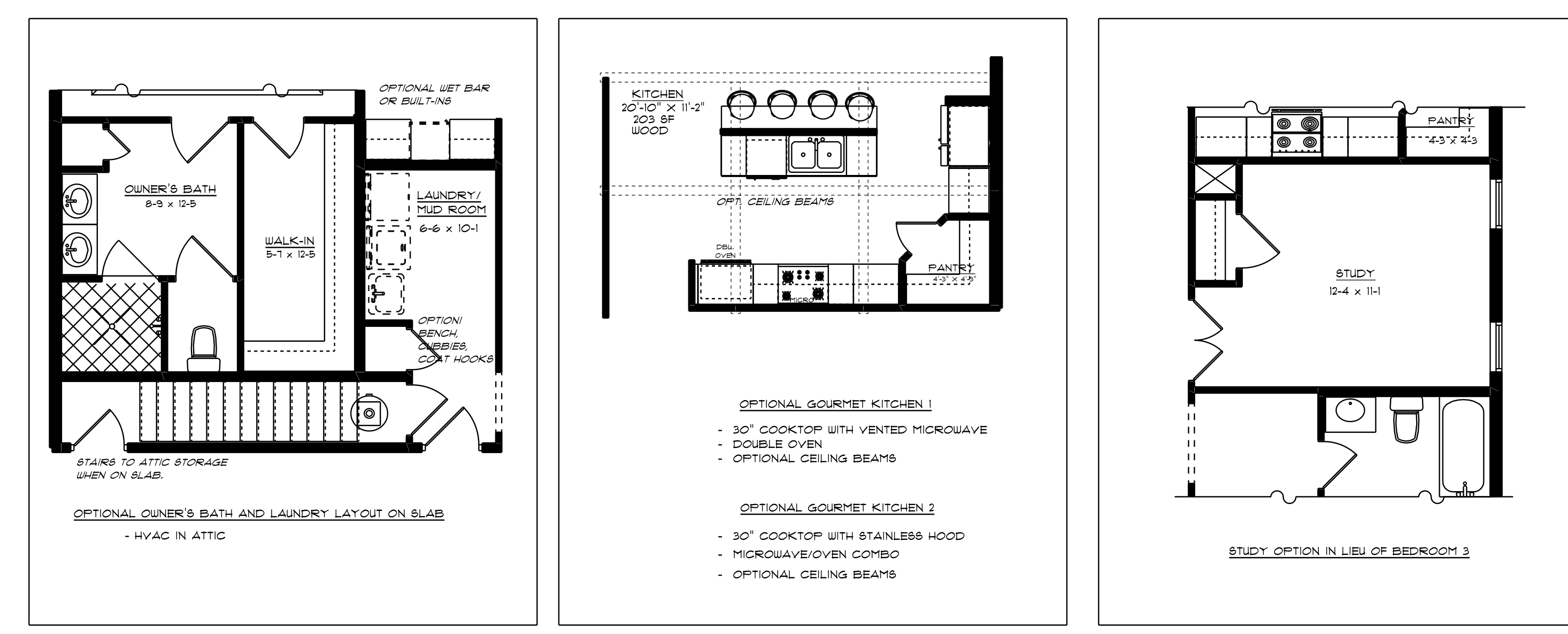Pavilion First Floor Plan Options