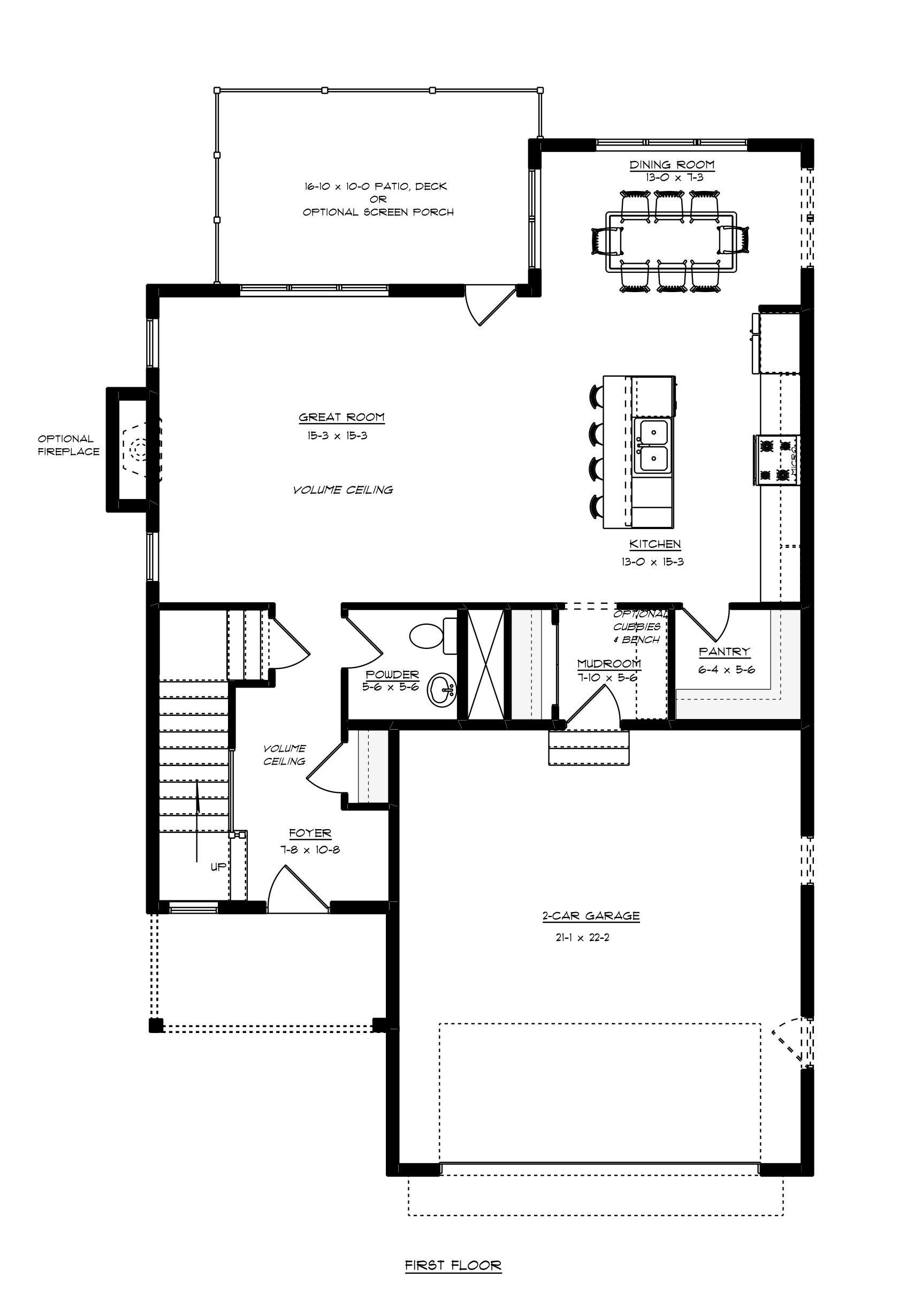Miller First Floor Plan