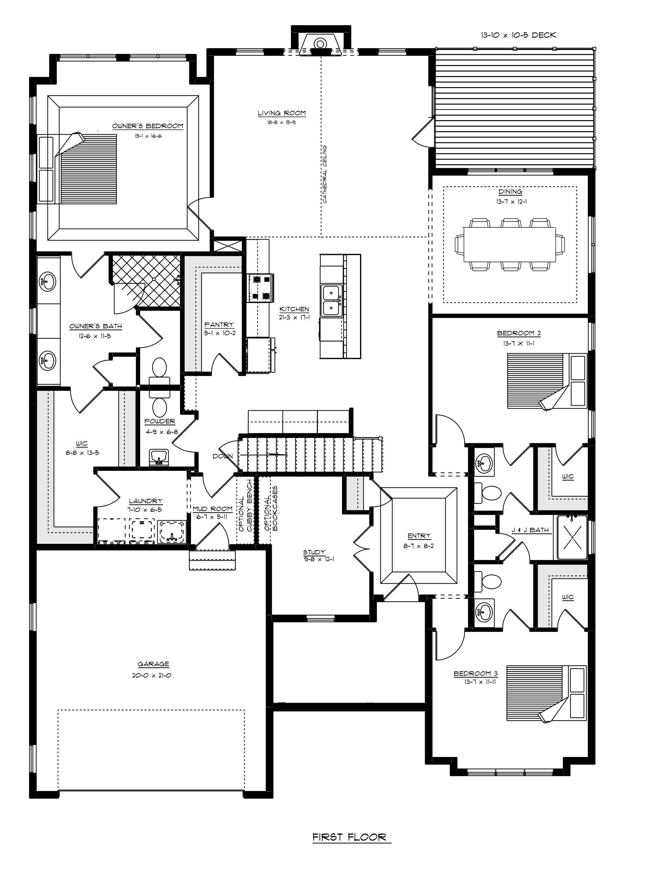 Williamsburg First Floor Plan