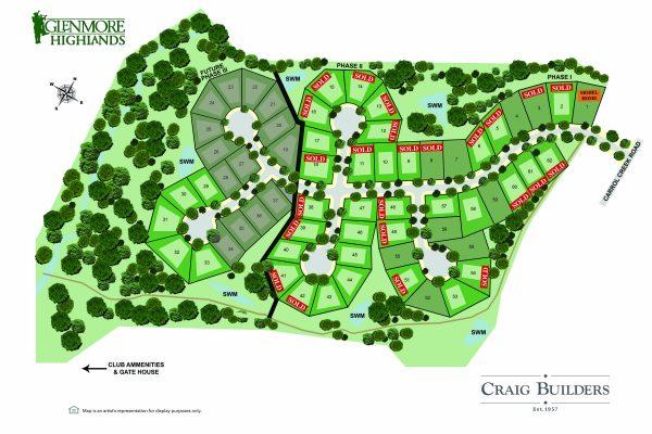 Glenmore Highlands Site Map