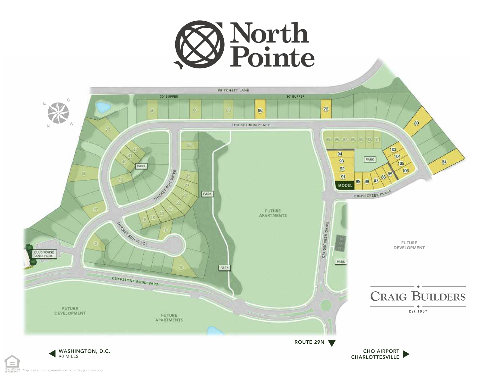 North Pointe Phase 1A Site Map