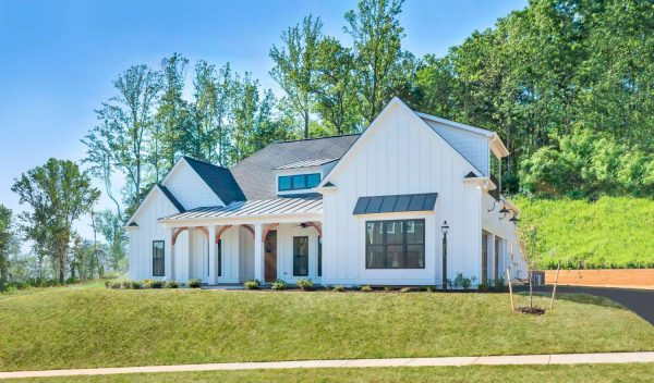 Exterior of the Newport home plan.