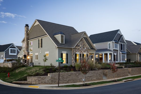 Exterior of Craig Builders model home in Old Trail Village