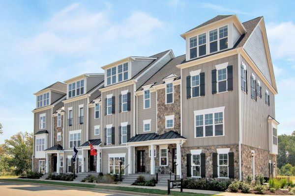 Exterior photo of the Old Trail Townes Model Row