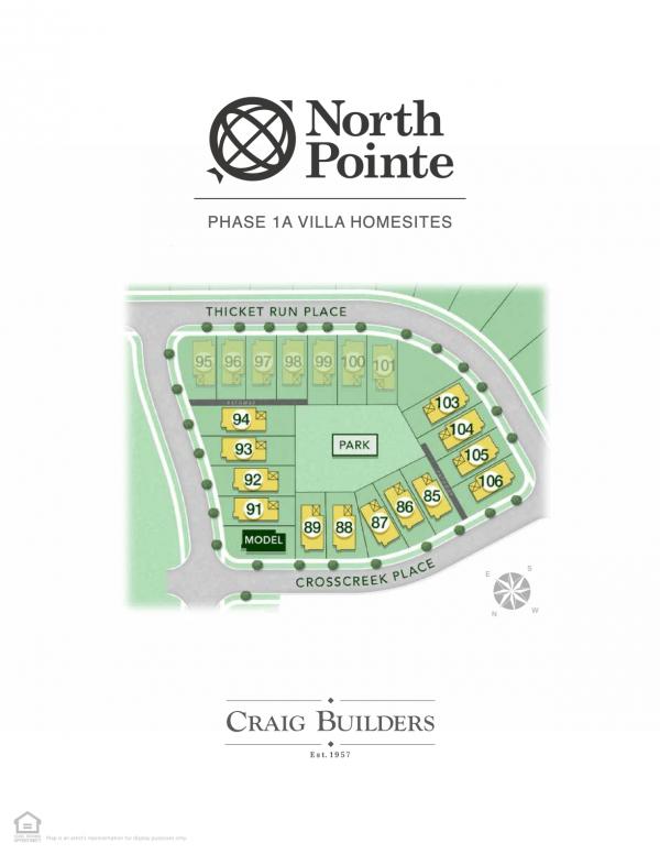 North Pointe Villas Site Map