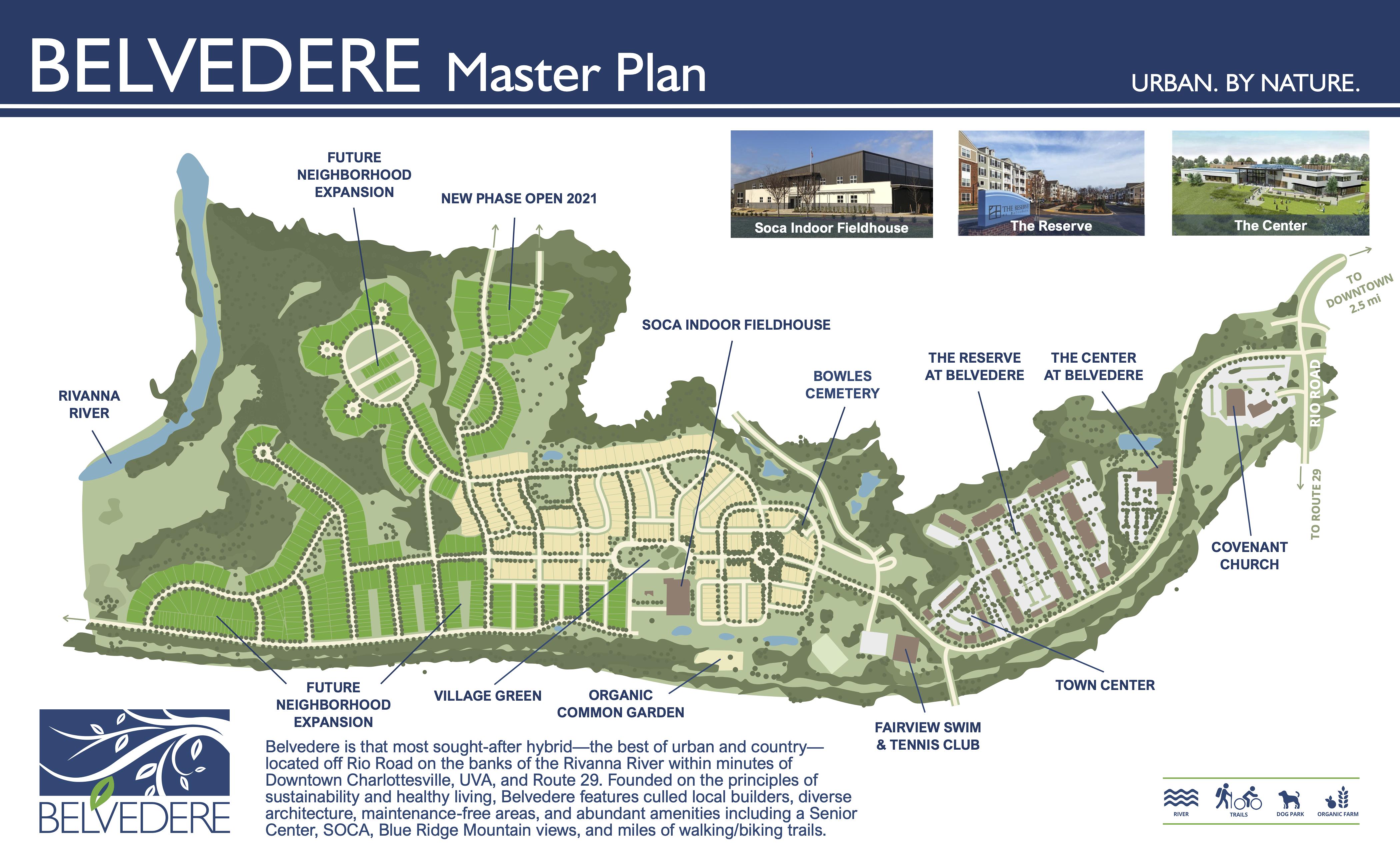 Belvedere Charlottesville Community Map